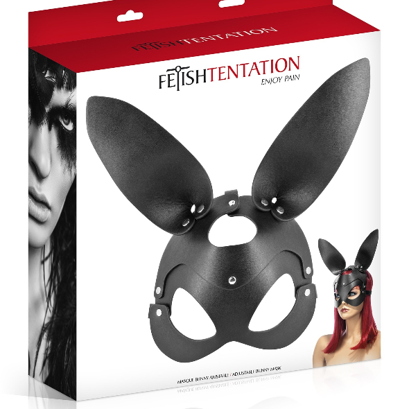 A- Fetish Tentation Masque Noir Bunny