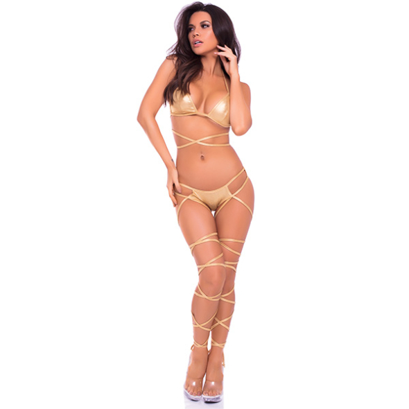 A- Lace up Lover Gold