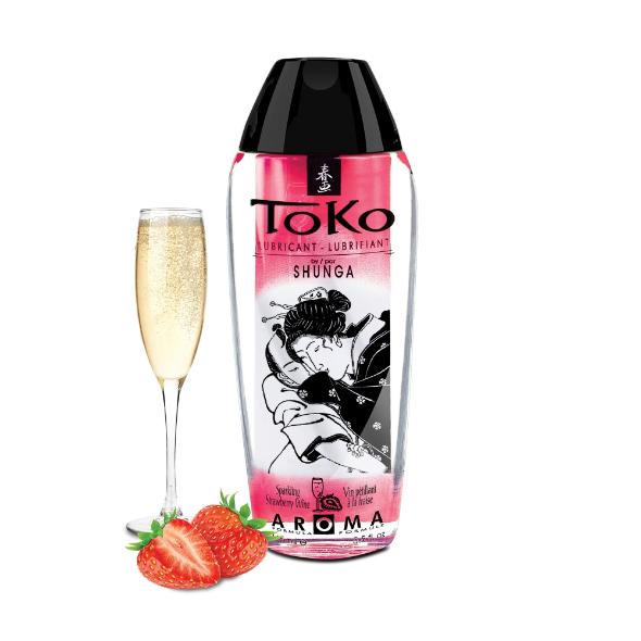 Lubrifiant eau Toko Fraise vin pétillant
