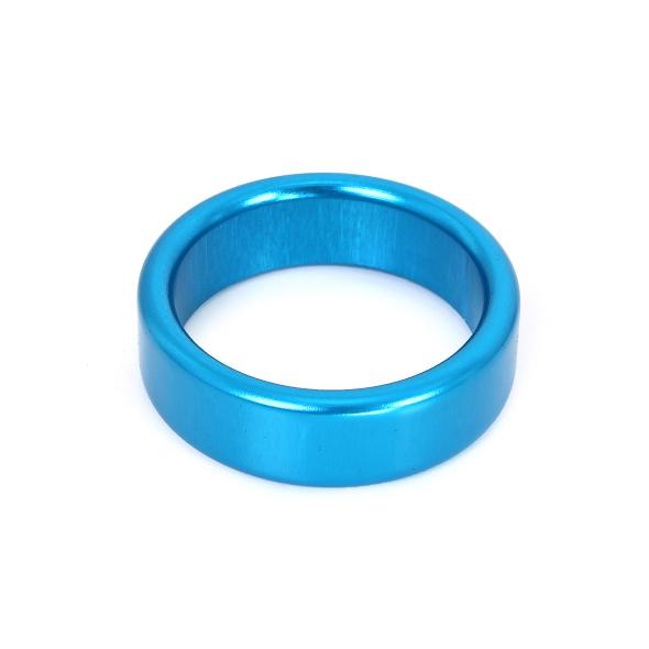 1A- Cockring Blue Aluminium