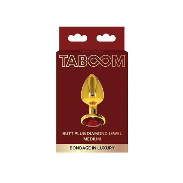 1A-Taboom Butt Plug With Diamond Jewel M
