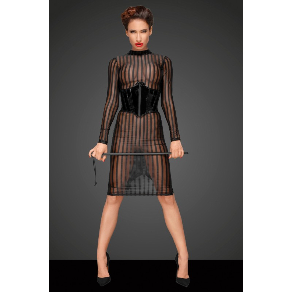 A-Classic dress made of elastic tulle F182